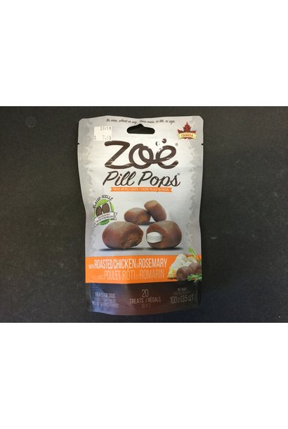 Zoe Pill Pops, 3.5 oz, Roasted Chicken with Rosemary