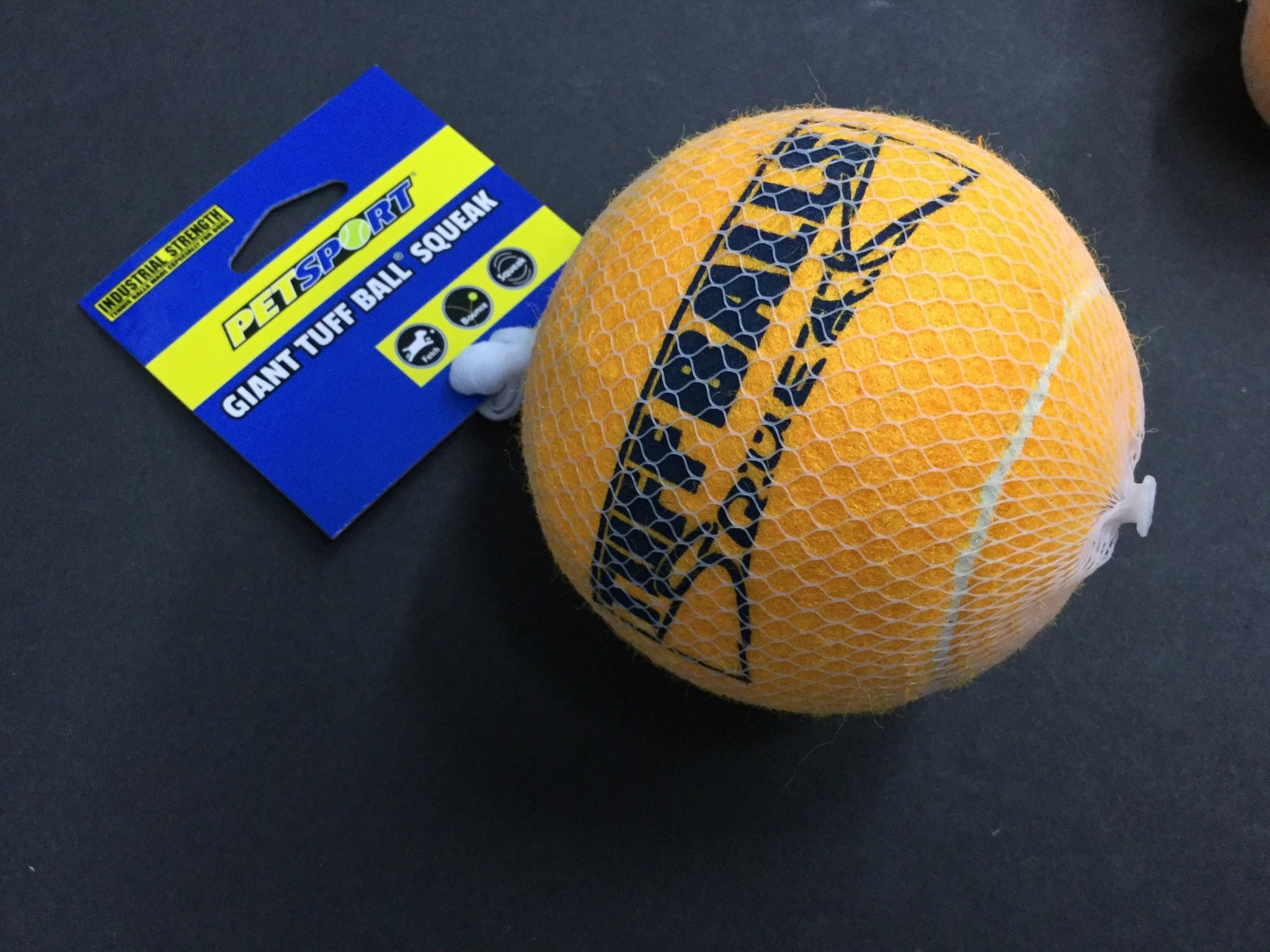 """PetSport-Tuff Balls 4""""-Squeak-1"""