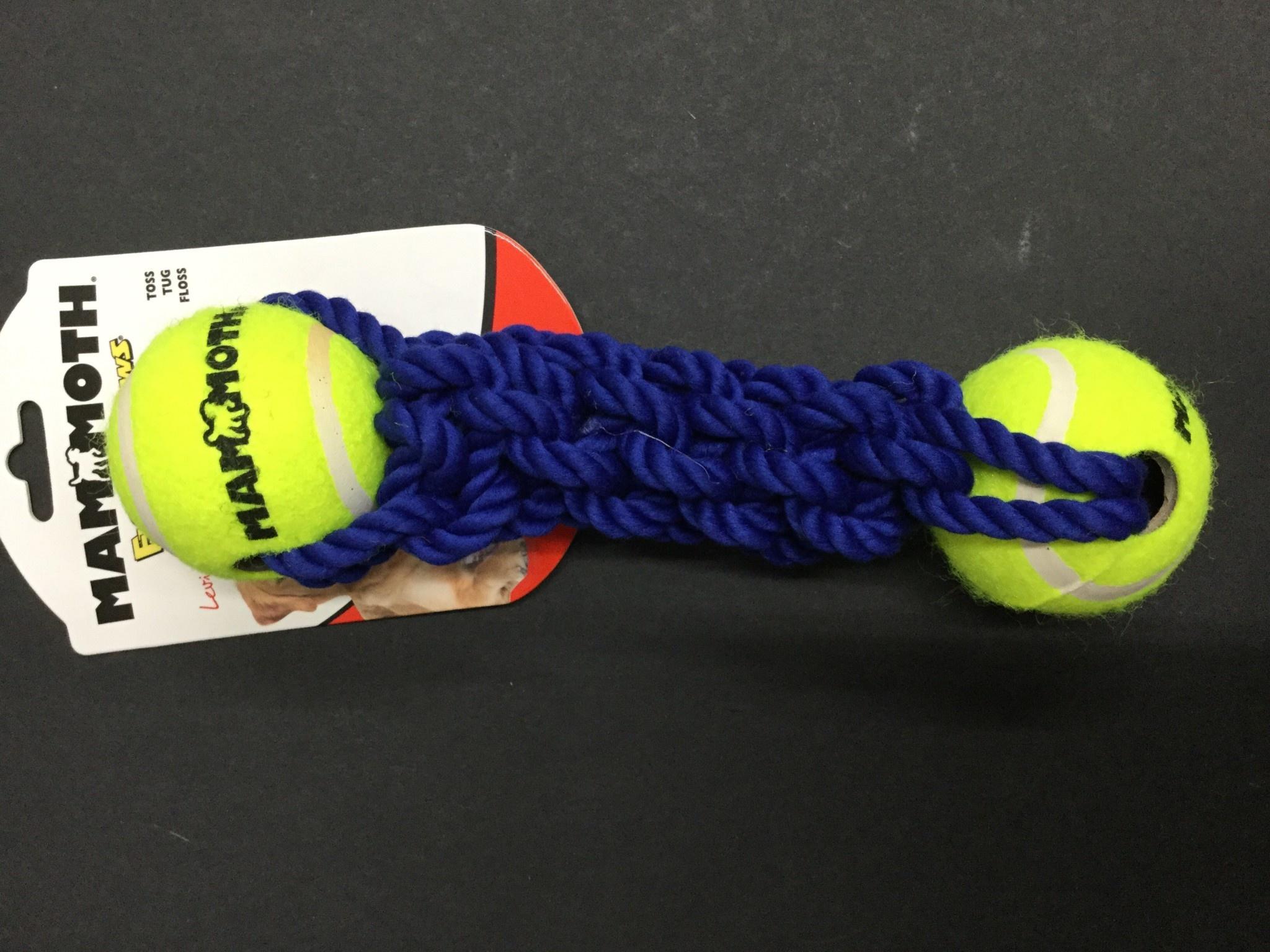 Braided Rope Bone w2 Tennis Balls 9-2