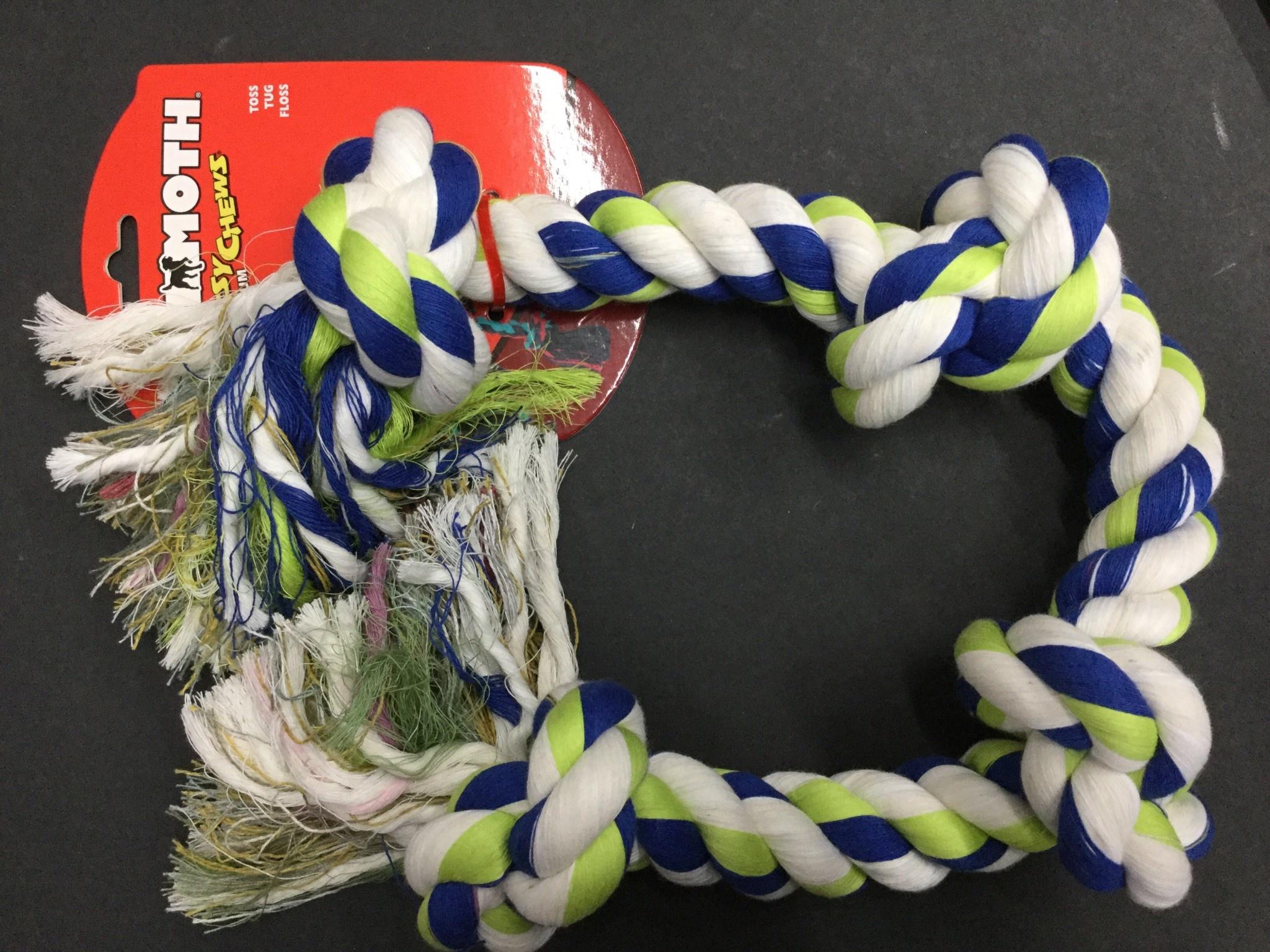 Cotton Tug 4 Knot Coloured XLarge 31-2