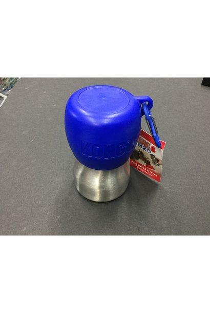Kong H2O Dog Water Bottle & Travel Bowl 9oz, Blue