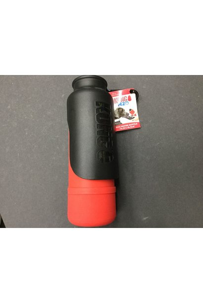 Kong H2O Dog Insulated Water Bottle & Travel Bowl 25oz, Red