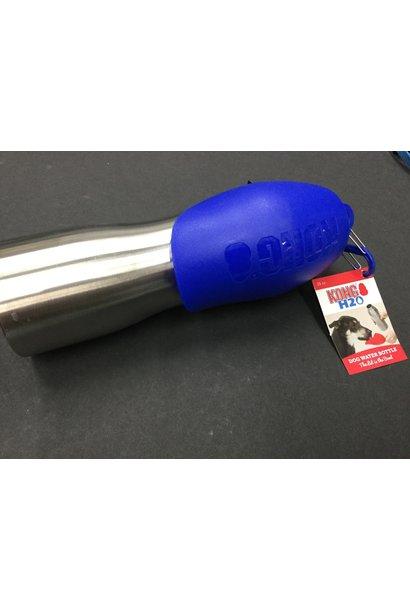 Kong H2O Dog Water Bottle & Travel Bowl 25oz, Blue