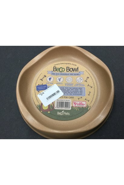 Beco Bowl Cat Brown