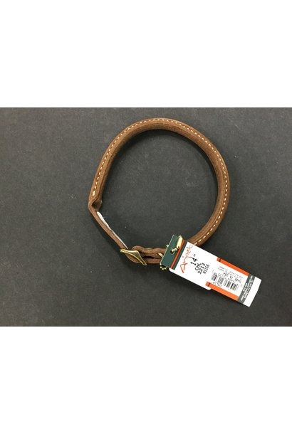 Rustic Leather Round Collar Brown 14x3/8