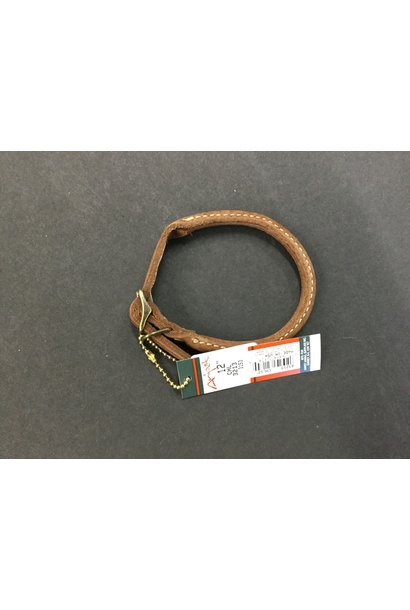 Rustic Leather Round Collar Brown 12x3/8