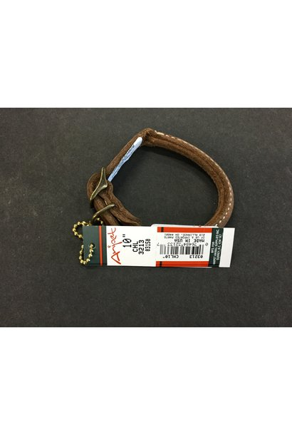Rustic Leather Round Collar Brown 10x3/8