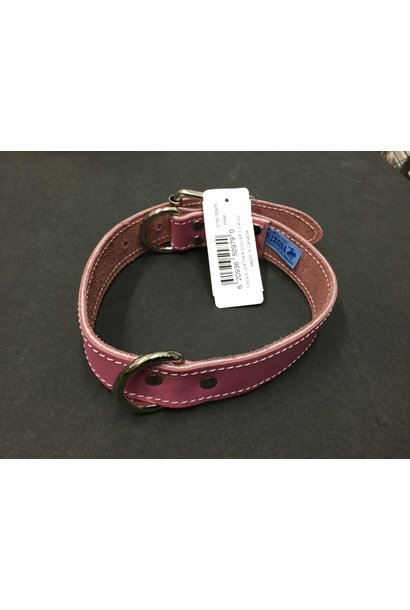 """Leather Collar Pink 1 1/4"""" x 22"""""""