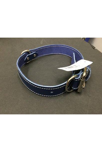"Leather Collar Blue 1 1/4"" x 24"""