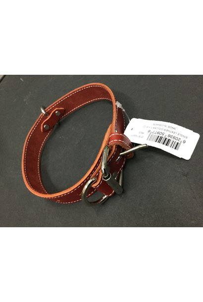 Leather Collar Red 1 1/4x22in