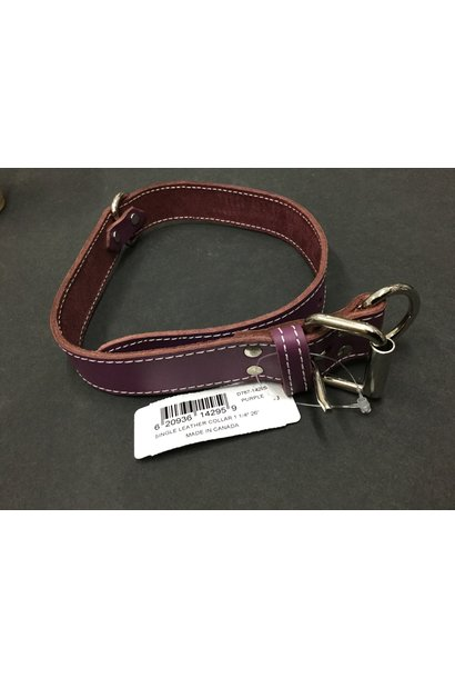 "Leather Collar Purple 26"" x 1 1/4"""