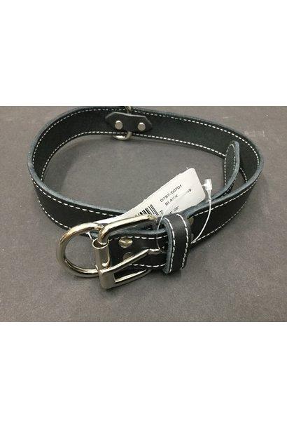 Leather Collar Bk 1 1/4x28in