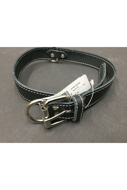 "Leather Collar Black 1 1/4"" x 28"""