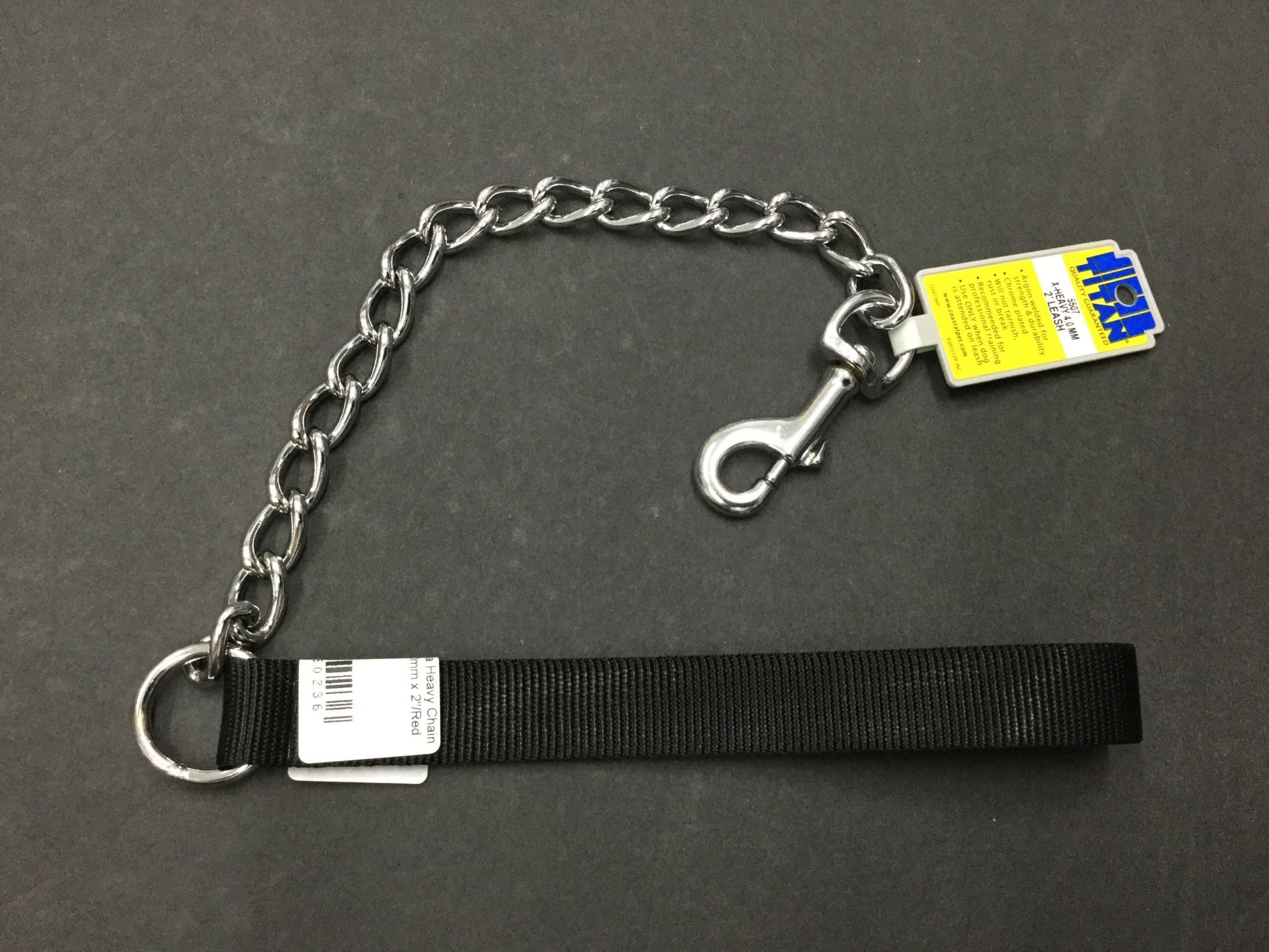 Titan Chain Leash 4.0mm x 2' Black-1