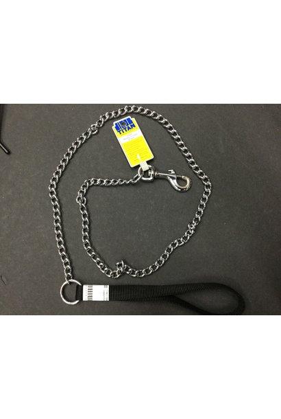 Titan Heavy Chain Leash/3mmx4'/Black