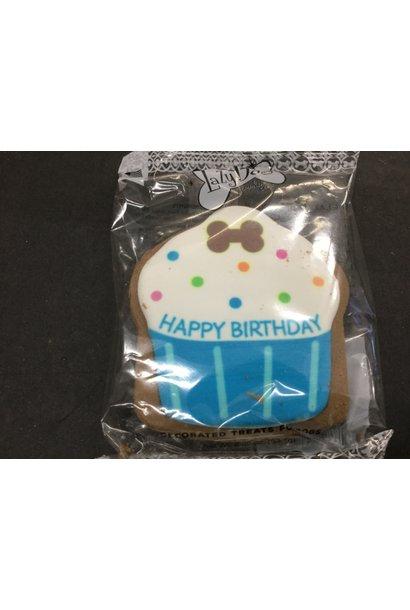 Lazy Dog Birthday Cupcakes-Blue-2.25oz