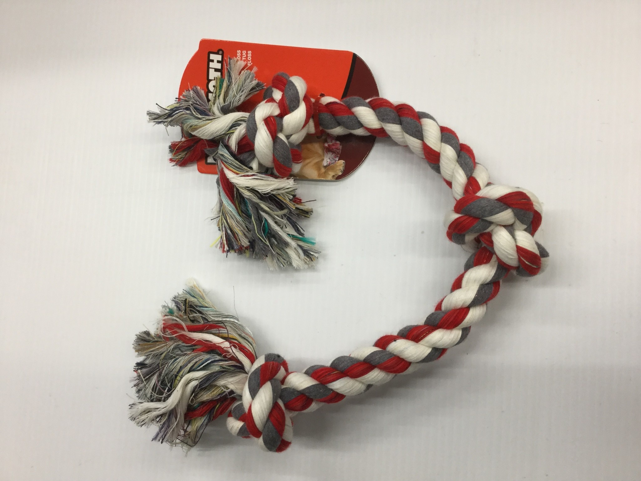 "Cotton Tug 3 Knot Coloured Large 25""-2"