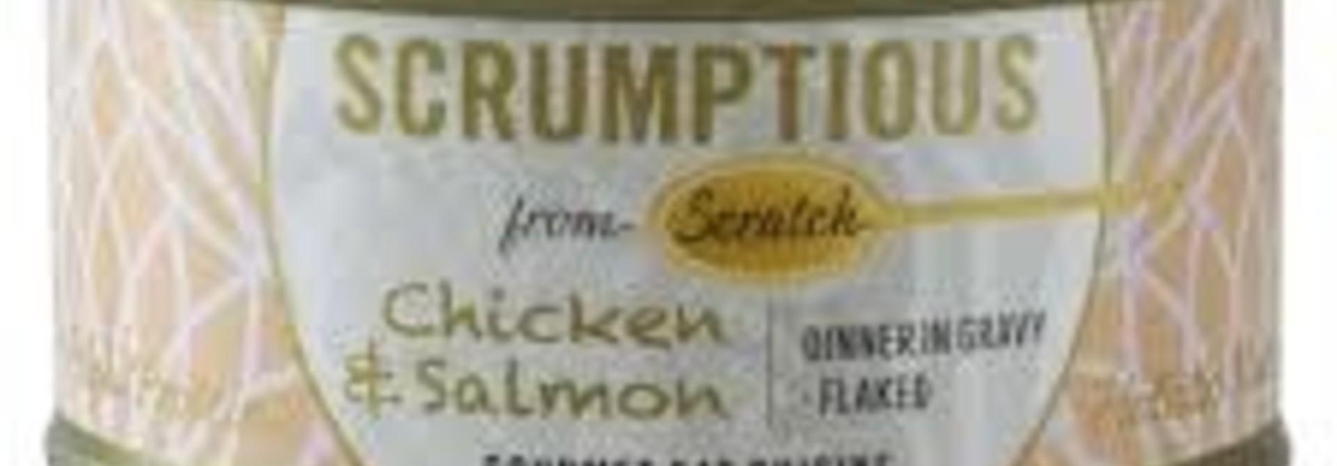 Scrumptious Cat Food-Chicken & Salmon 2.8OZ