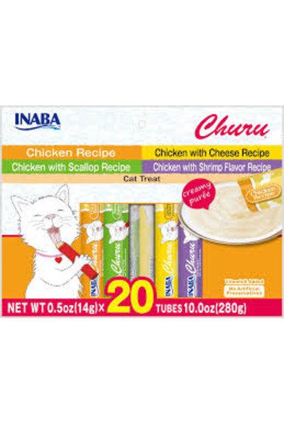 Inaba Churu Puree Chicken 0.5oz Variety Bag 20pk