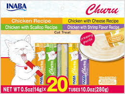 Inaba Churu Puree Chicken 0.5oz Variety Bag 20pk-1