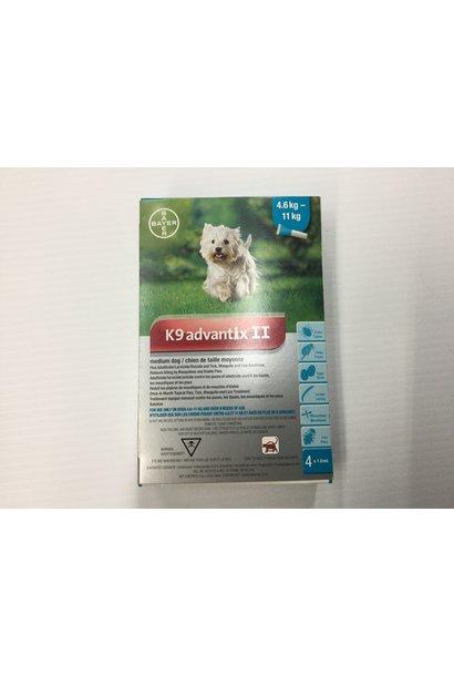 K9 advantix II-Medium Dog 4.6-11kg