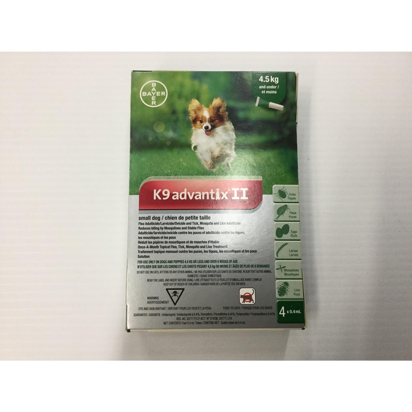 K9 advantix II-Small Dog under 4kg