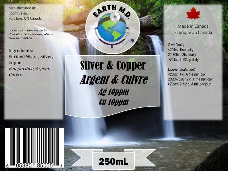 EarthMD Colloidal Silver/Copper Spray 250mL-1