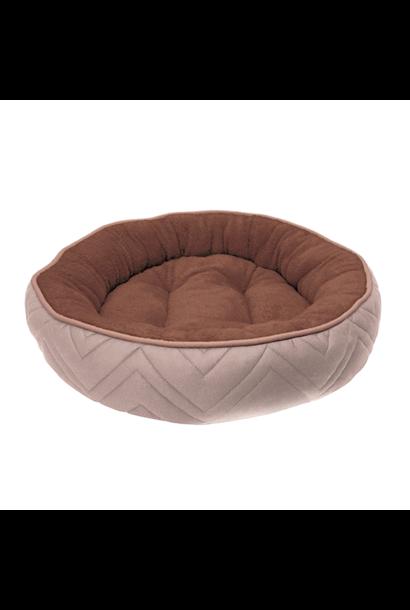 Dogit Round Cuddle Bed, Beige, Brown