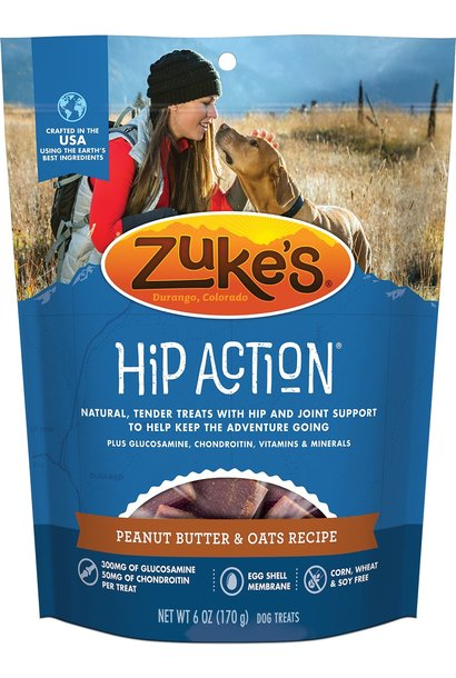 Zukes Hip Action Peanut Butter & Oats 6OZ