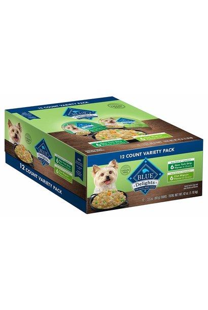 Blue Dog Delights Filet/NY Strip Vty Pk 12/3.5 oz