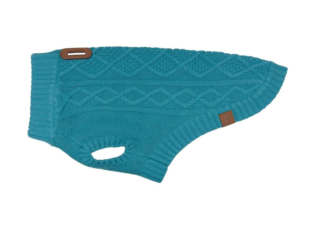 Cable Sweater L Dark Teal-1