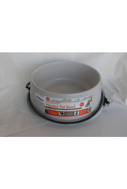 White Giant Heated Water Bowl 25w