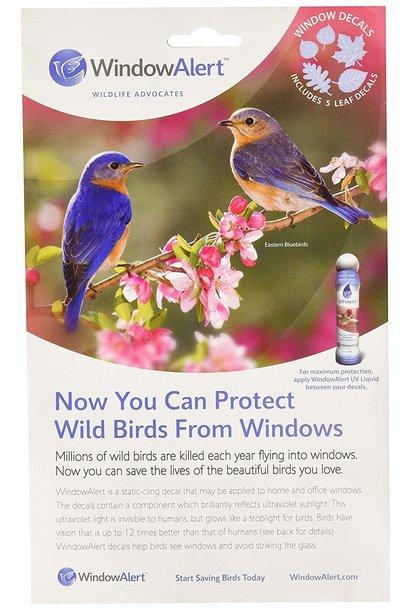 Window Alert 5 Leaf Decal