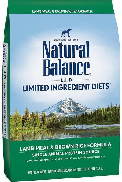 NB LID Lamb & Brown Rice 28LB