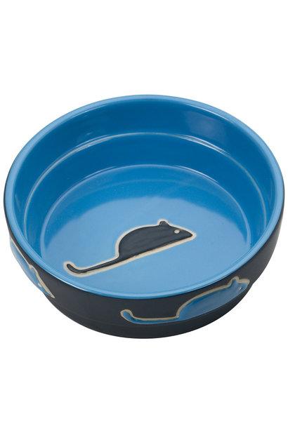 Fresco Cat Dish Blue 5