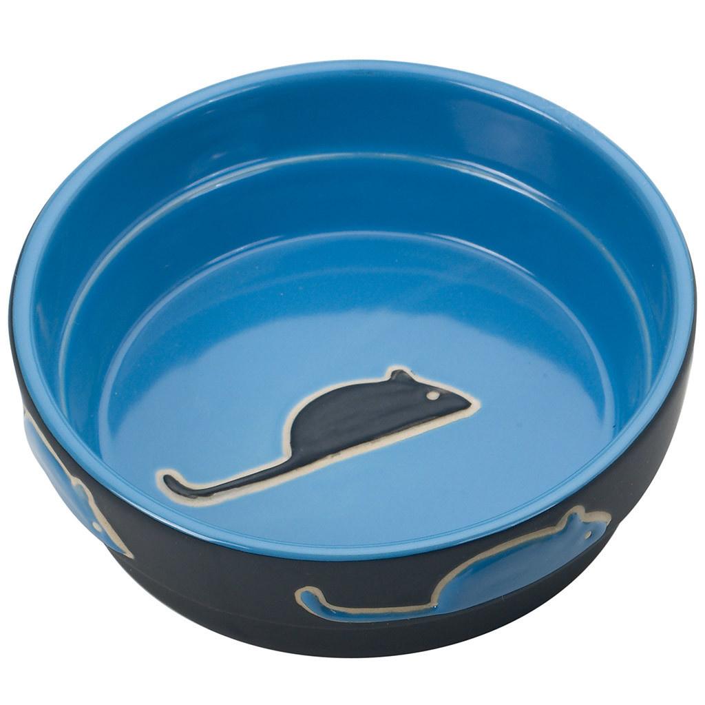 Fresco Cat Dish Blue 5-1