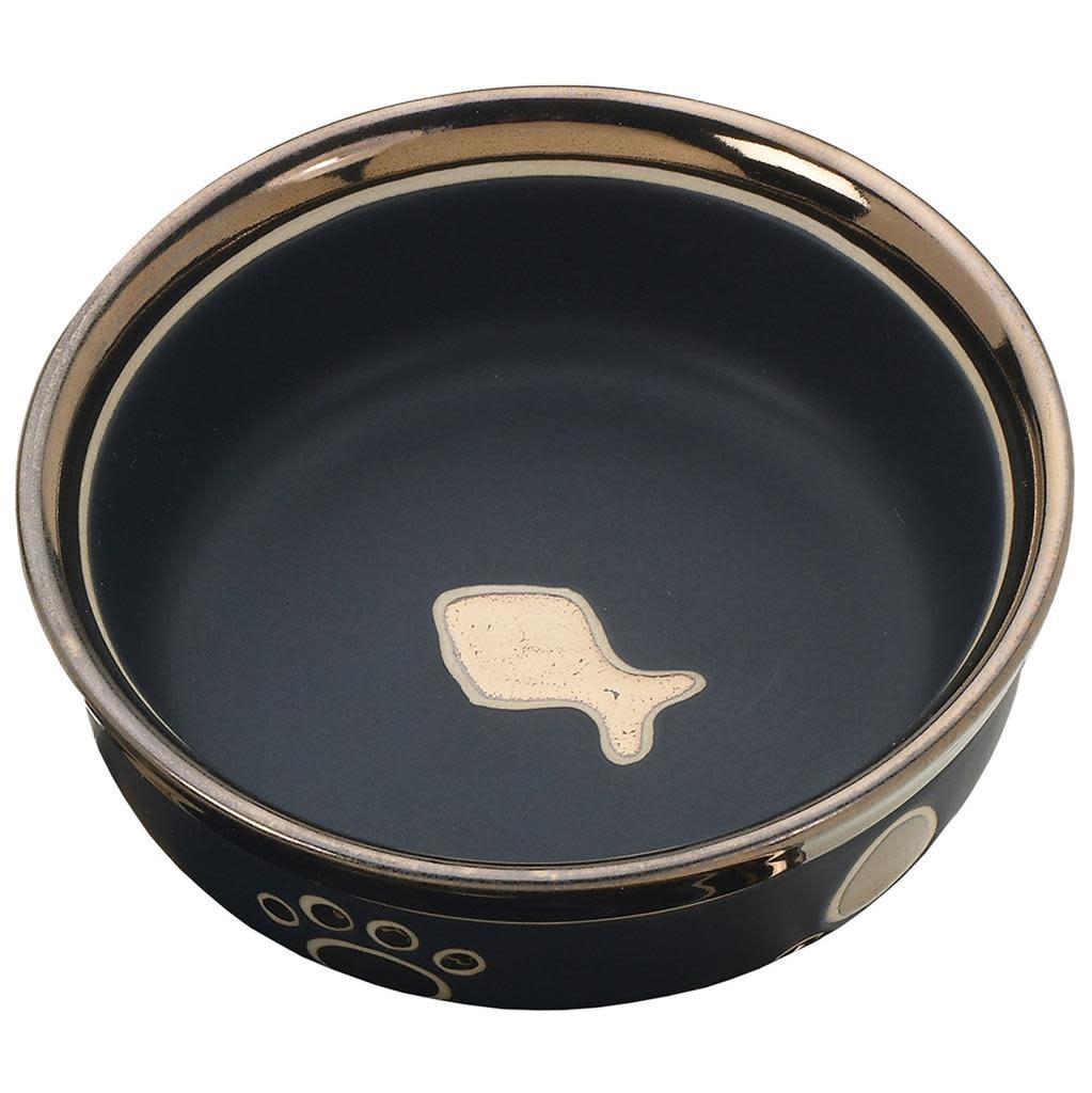 Ritz Copper Rim Cat Dish Black 5in-1
