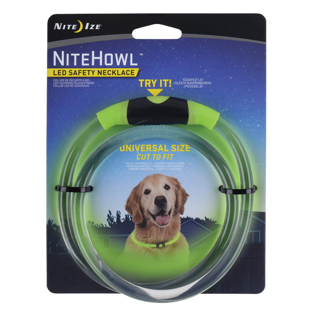 Nite Howl LED Safety Necklace Green-1