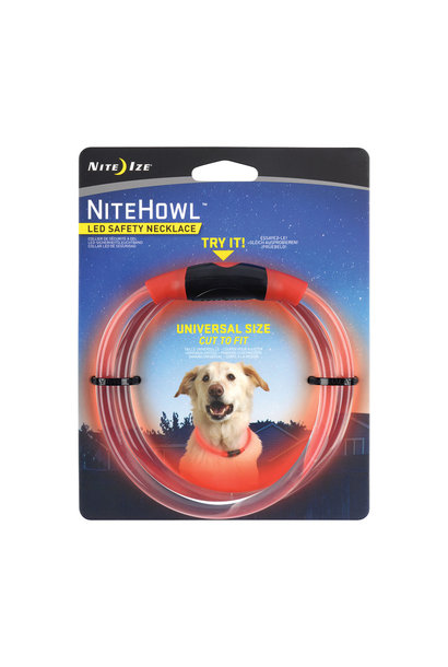 Nite Howl LED Safety Necklace Red