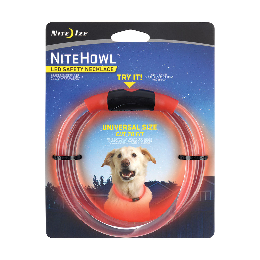 Nite Howl LED Safety Necklace Red-1