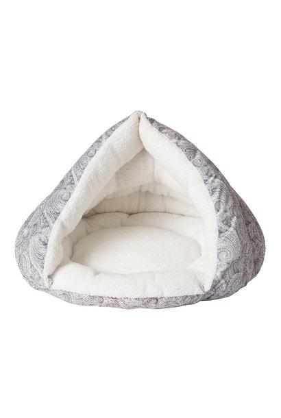 "Self-Warming Hut Grey 18x19"""
