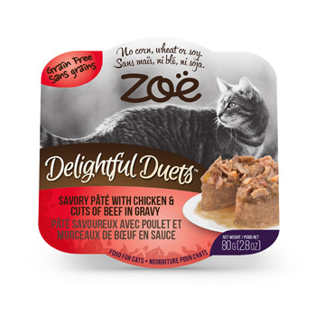 Zoe Delights Duets Pate Chicken - Beef cuts 80g-1