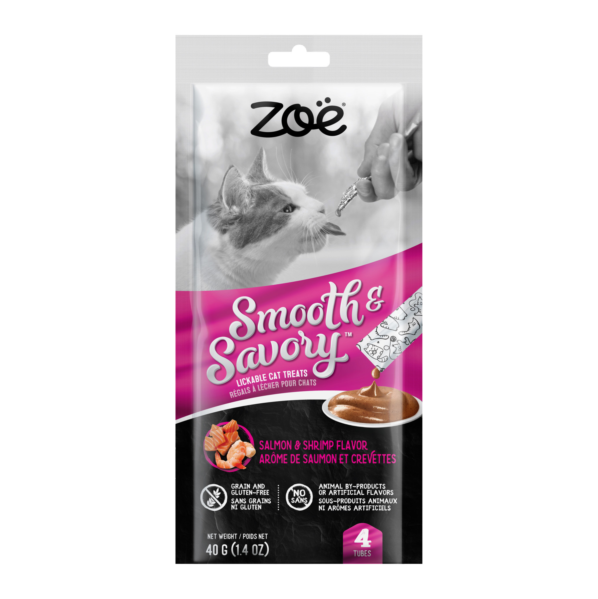 Zoe Lickable Smooth & Savory Treats-Salmon & Shrimp-1