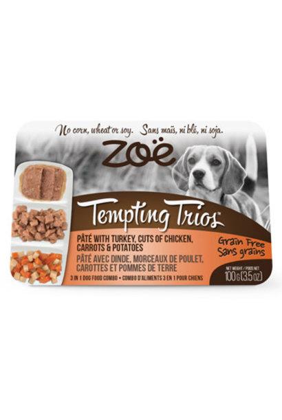 Zoe Tempting Trios Pate, Turkey, Chicken, Sweet Potatoes, Pumpkin 100g