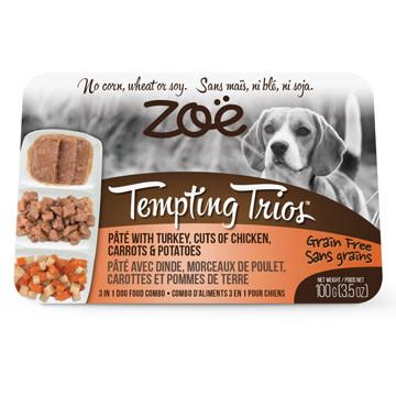 Zoe Tempting Trios Pate, Turkey, Chicken, Sweet Potatoes, Pumpkin 100g-1