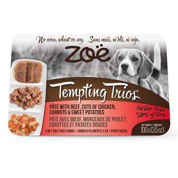 Zoe Tempting Trios Dog Beef, Chicken, Sw Potato 100g-1