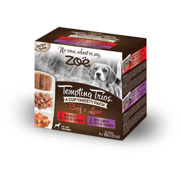 Zoe Tempting Trios 4 Cup Variety - Lamb & Beef 4 x 100g-1