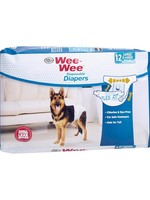 Wee-Wee Wee-Wee Disposable Diapers Large XLarge 12PK