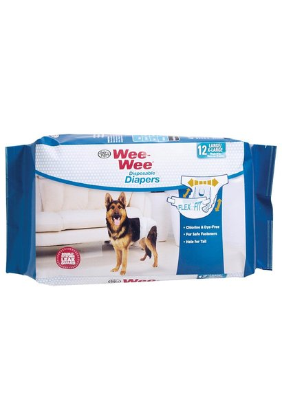 Wee-Wee Disposable Diapers Large XLarge 12PK