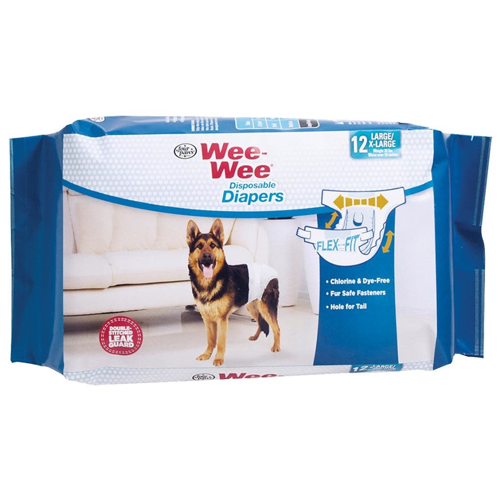 Wee-Wee Disposable Diapers Large XLarge 12PK-1